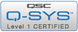 Q-sys-Level1-badge